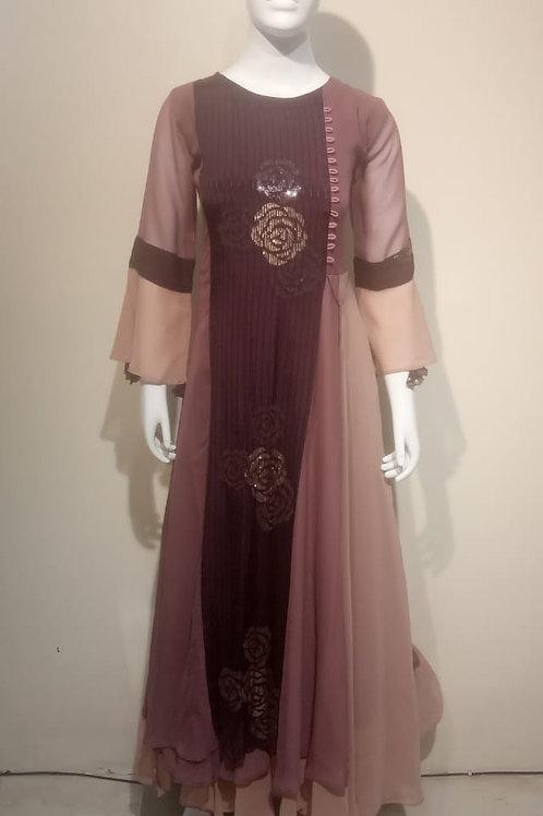Long Georgette Party-wear Dress