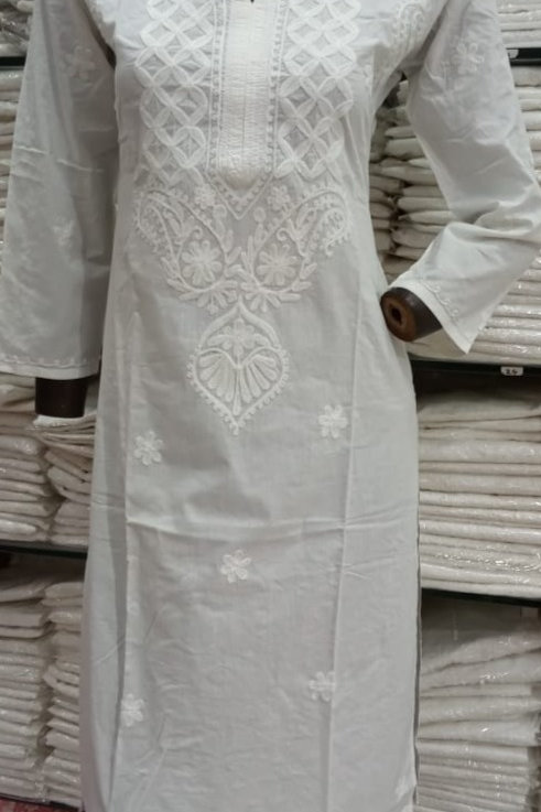 Hakoba Ari Work Pure Cotton Kurti