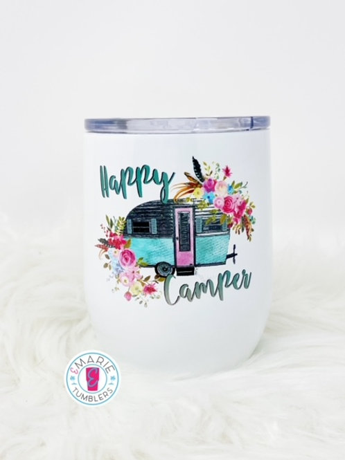 Happy Camper sublimation tumbler