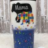 Fine glitter with puzzle pices