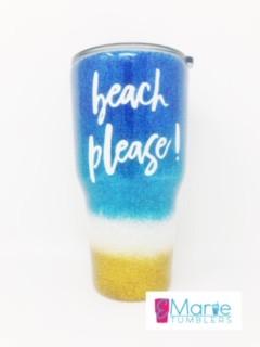 Fine glitter beach design
