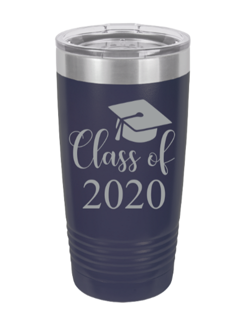 Class of 2020 laser engraved tumbler