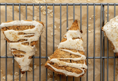 Nutty Maple Oatmeal Scones
