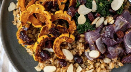 Warm Delicata Squash and Farro Salad