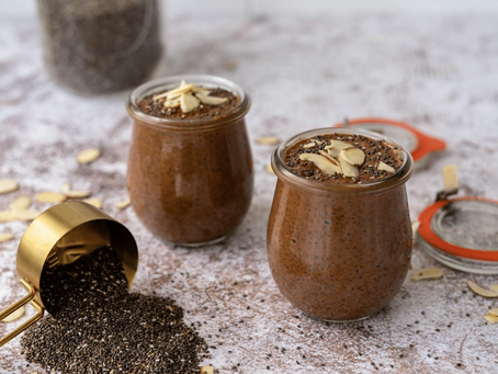 Chocolate Almond Chia Pudding