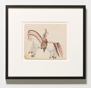 Ledger Drawing Oliver Good Shield (aka Oliver Newton Lakota Plains