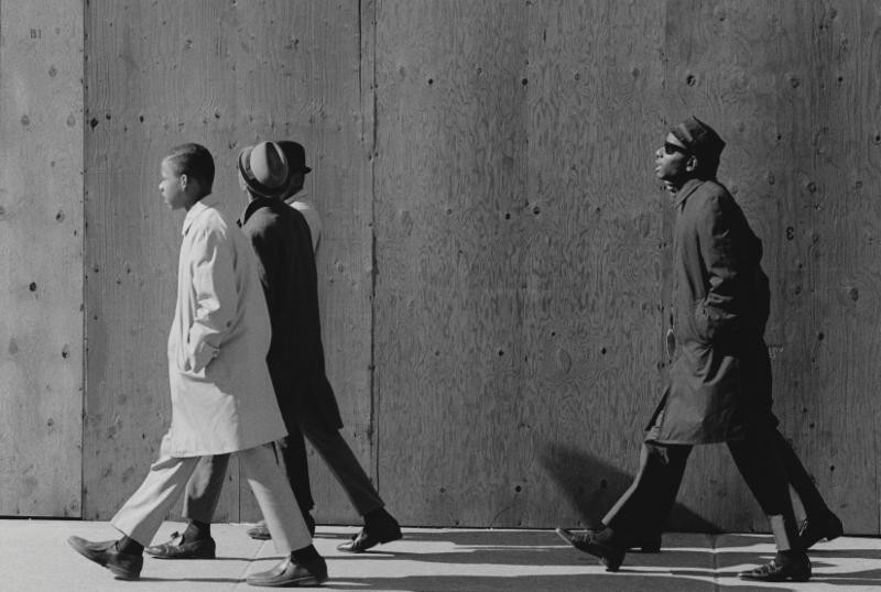"""""""Men Walking"""" C. 1960's  20""""H x 30""""W"""