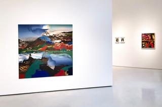 Paint Shape Form, Installation View 4 Left to Right: Elliot Green, John Walker