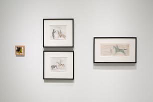 Ledger Drawings + Richard Nonas Installation View