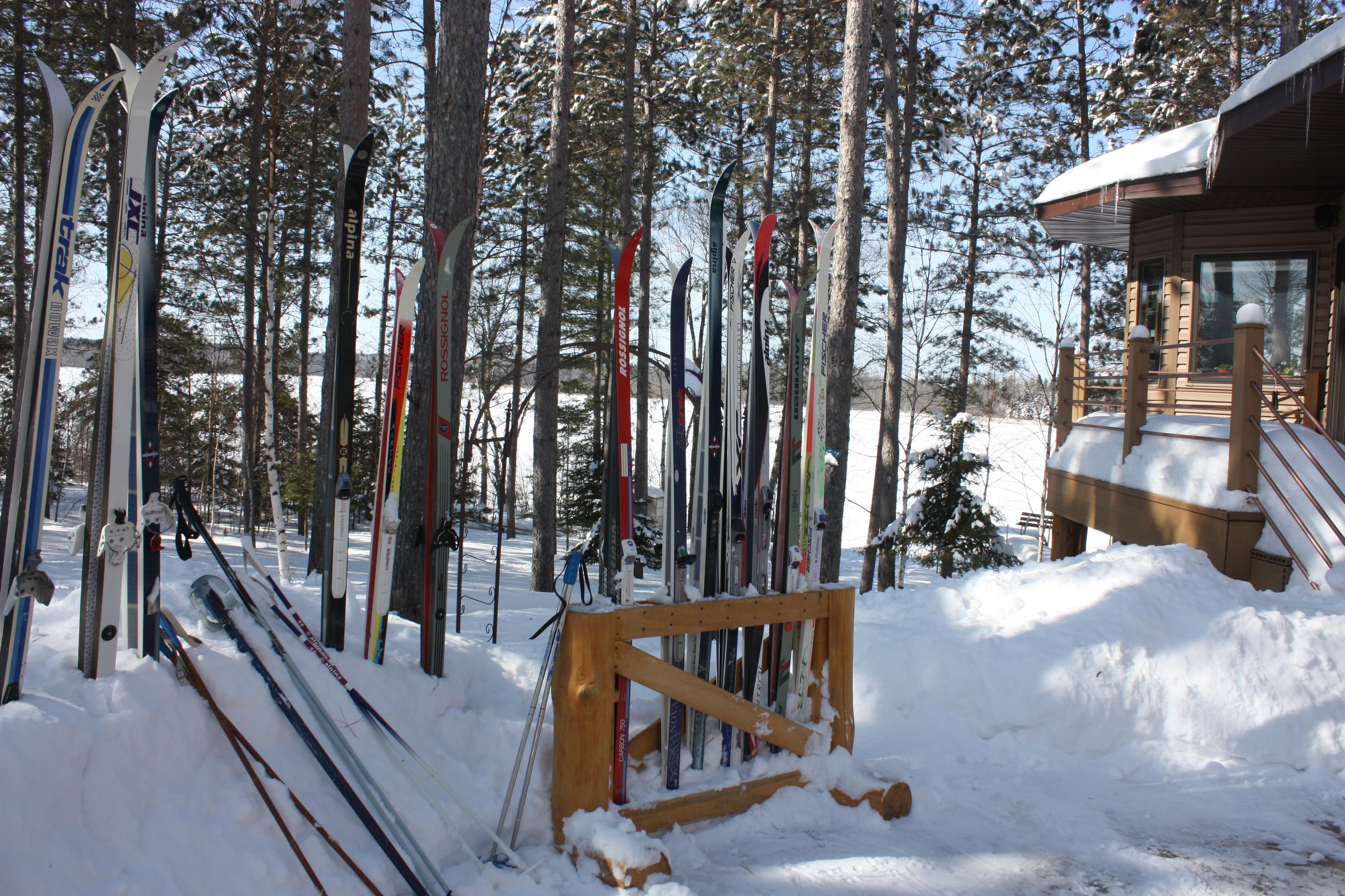 My  lake home ski trails