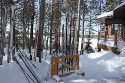 My lake home ski storage area