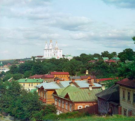 Кафедральный Успенский собор с Казанской горы. Смоленск.