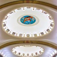Мозаика на потолке.