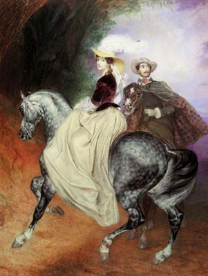 Всадники. Парный портрет Е. Мюссара и Э. Мюссар.