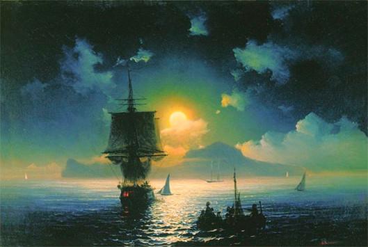 Лунная ночь на Капри.
