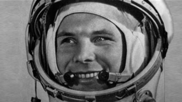 Юрий Гагарин - первый человек в космосе.