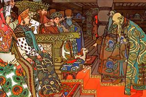 Сказка о царе Салтане, о сыне его славном и могучем богатыре князе Гвидоне Салтановиче и о прекрасной царевне Лебеди.