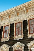Украшения бревенчатого дома.