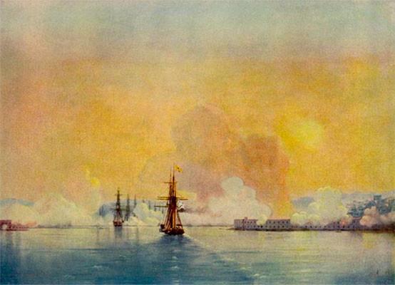 Вход в Севастопольскую бухту.