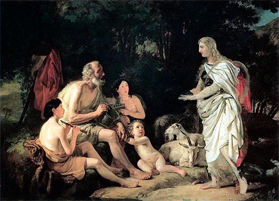Эрминия у пастухов.