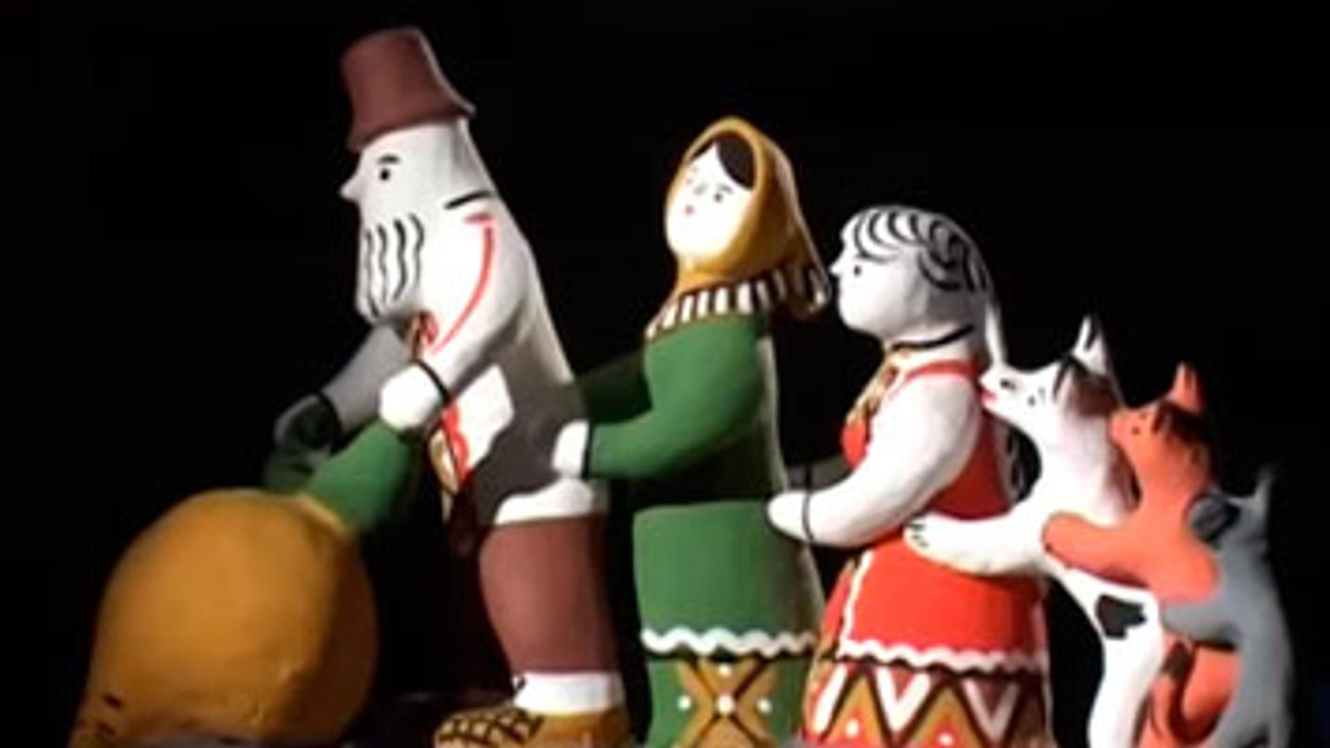 Роспись каргопольской игрушки.