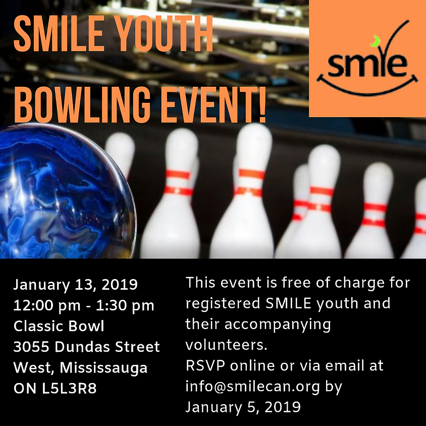 SMILE Youth Bowling event!