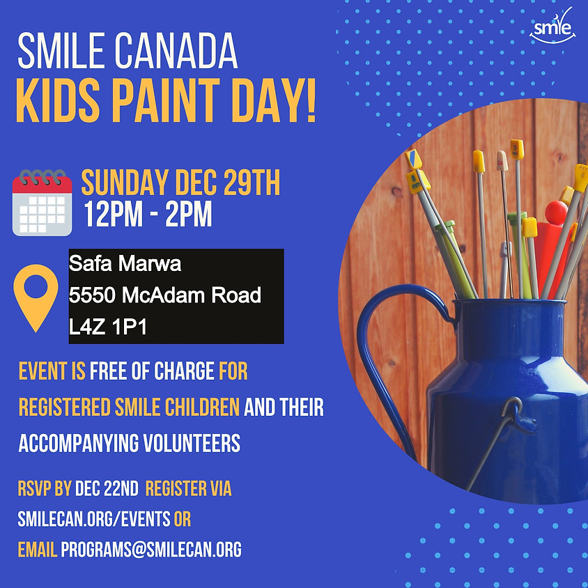 SMILE Kids Event - Please note location change in text!