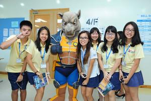 Students meet Rhino Ranger.JPG