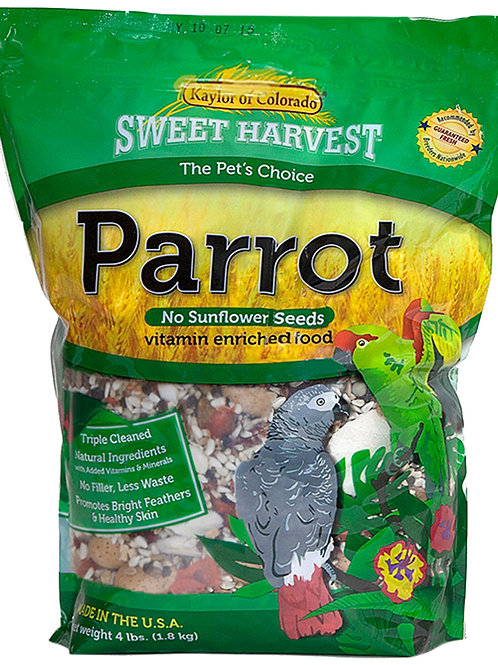 Sweet Harvest Parrot No Sunflower Seeds (Vitamin Enriched Food)