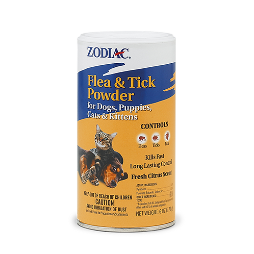 Zodiac Flea & Tick Powder for Dogs,Cats, Puppies, and Kittens