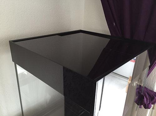 Schwarzglas Abdeckung 160x60