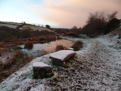 A pond on a frosty Dartmoor morning