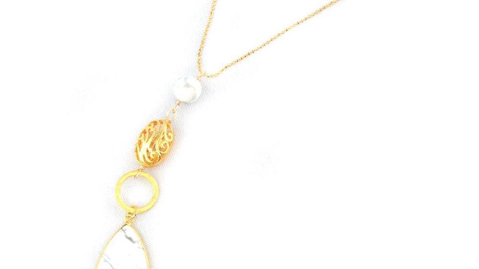 Tess Howlite Necklace