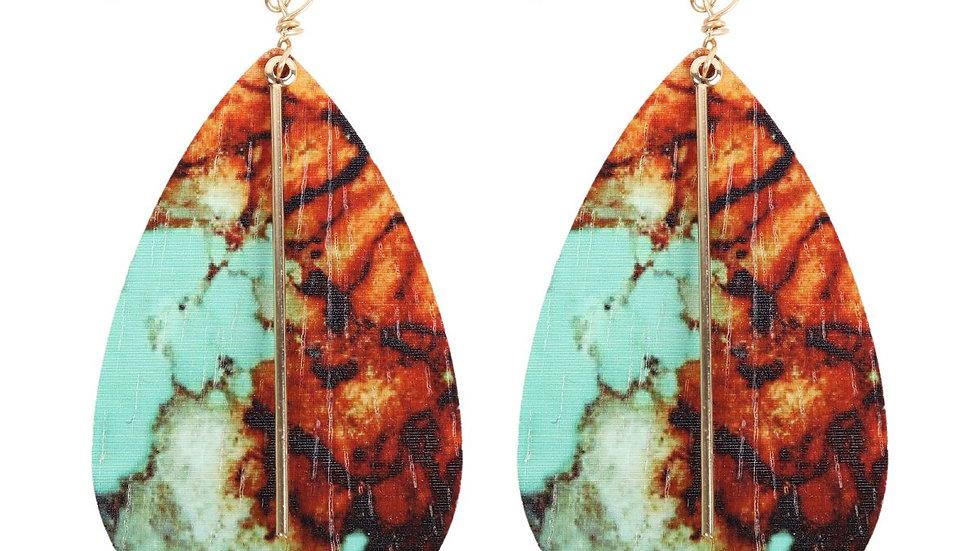 Semi Wood Fish Hook Bar Earrings