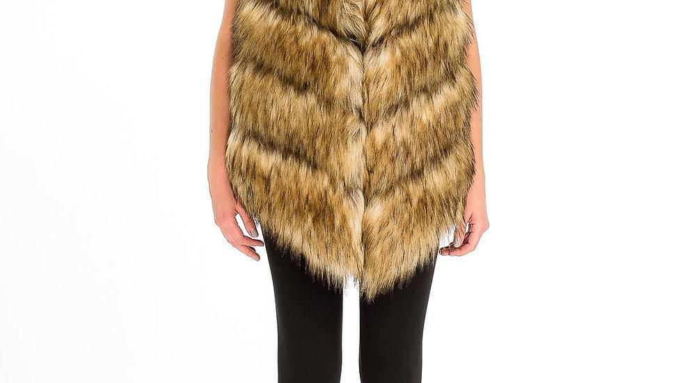 Long Faux Fur Vest