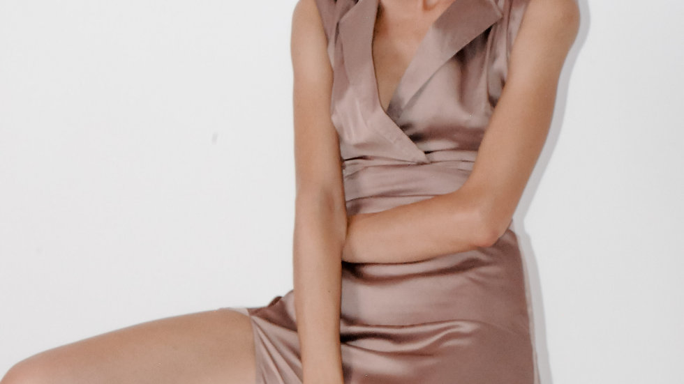 Caramel Brown Shirt Dress