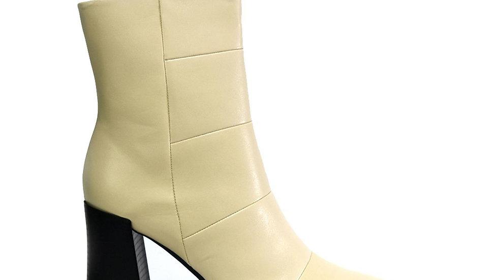 Square Toe Block Heel Nude