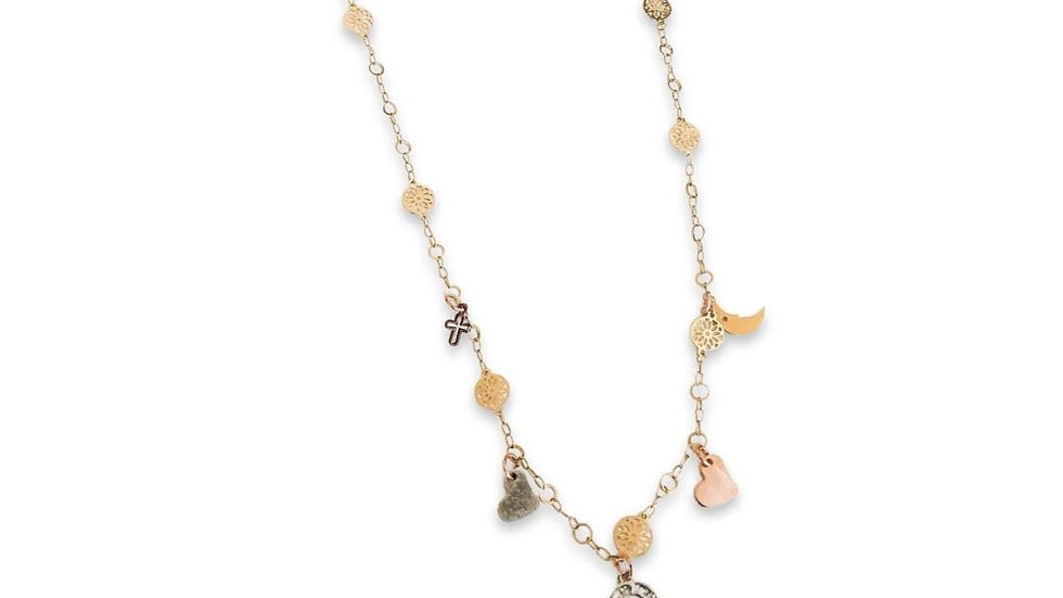 18kt Gold Plated Charms Necklace