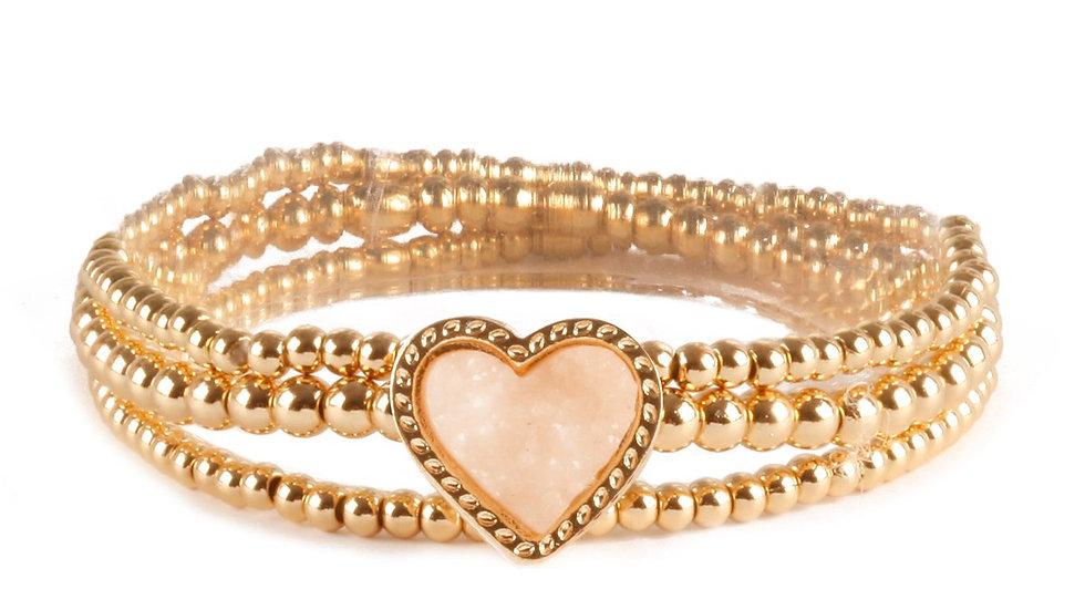 Heart Elastic Bracelet