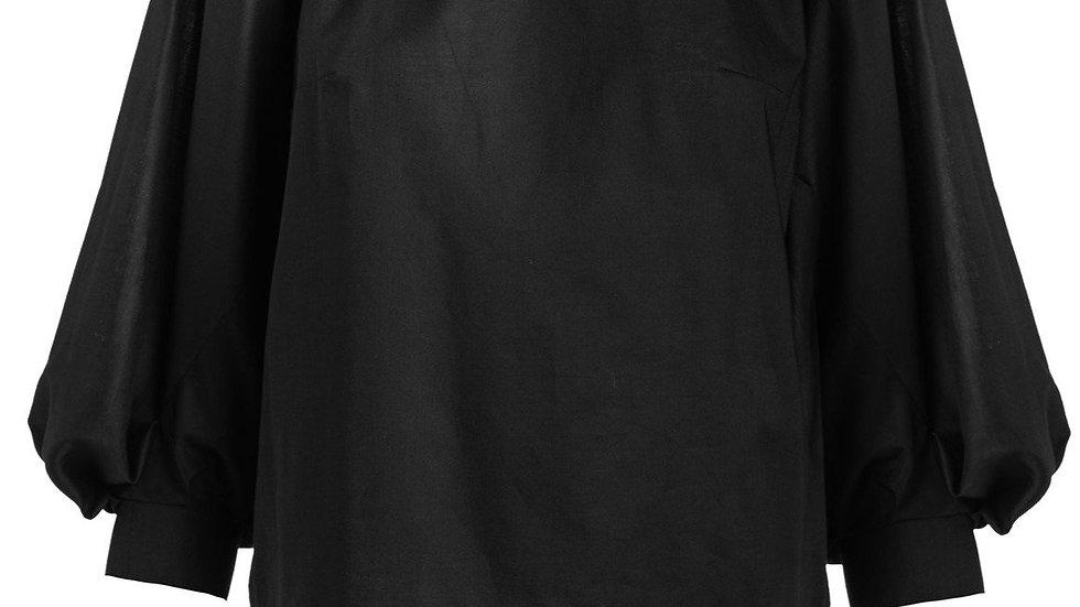 Black Top with Bishop Sleeves
