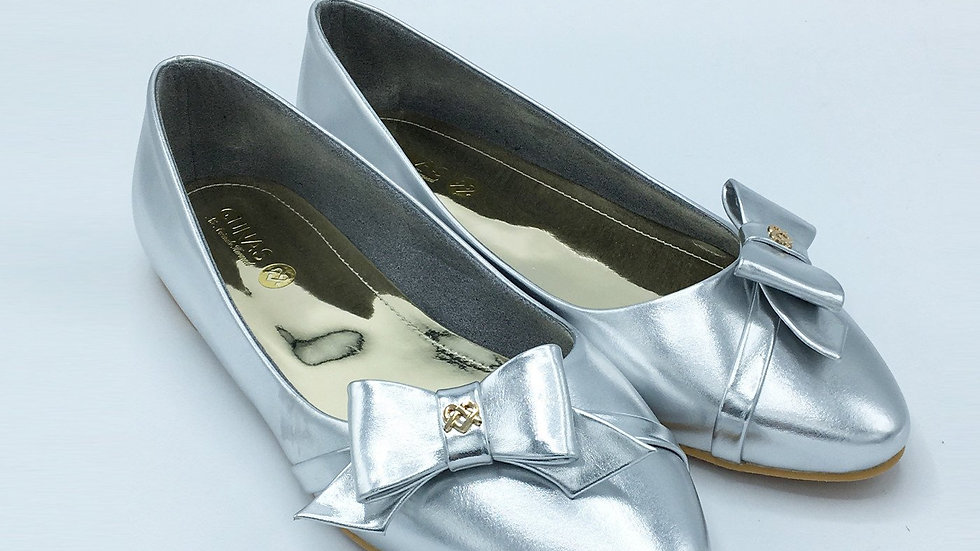 Swan - Silver Vegan Leather Shoes