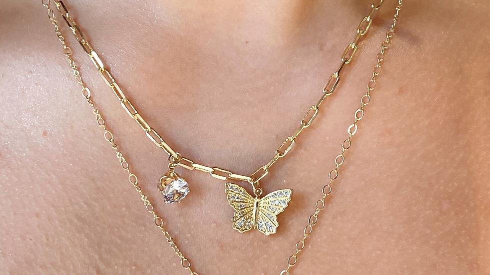 Butterfly Locket Necklace