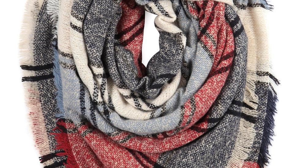 Blanket Fringed Scarf Multicolour