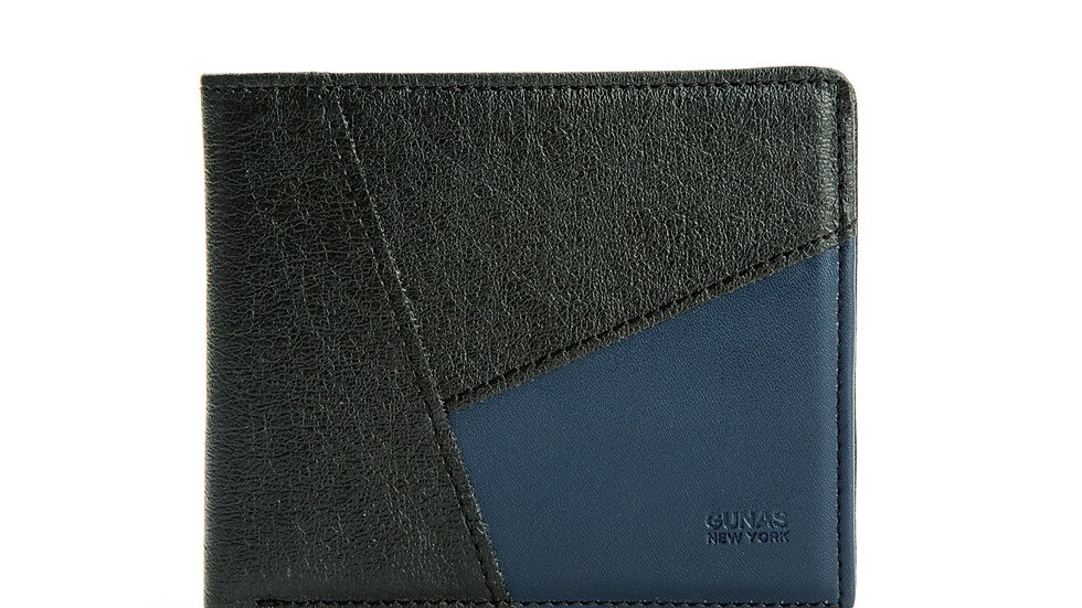 Woody - Blue Vegan Leather Wallet