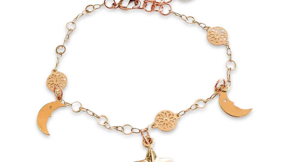 Gold Star Charm Bracelet
