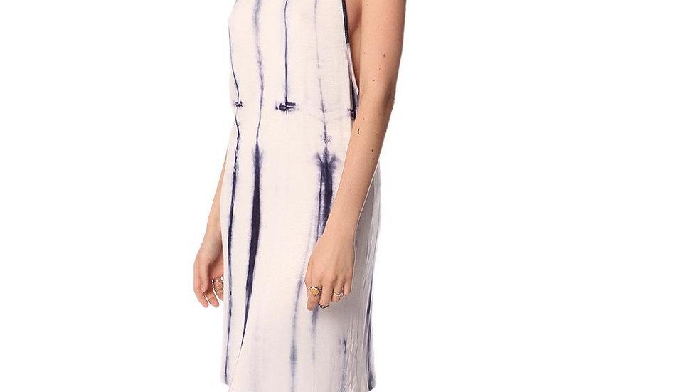Blue Slip Dress in Tie Dye
