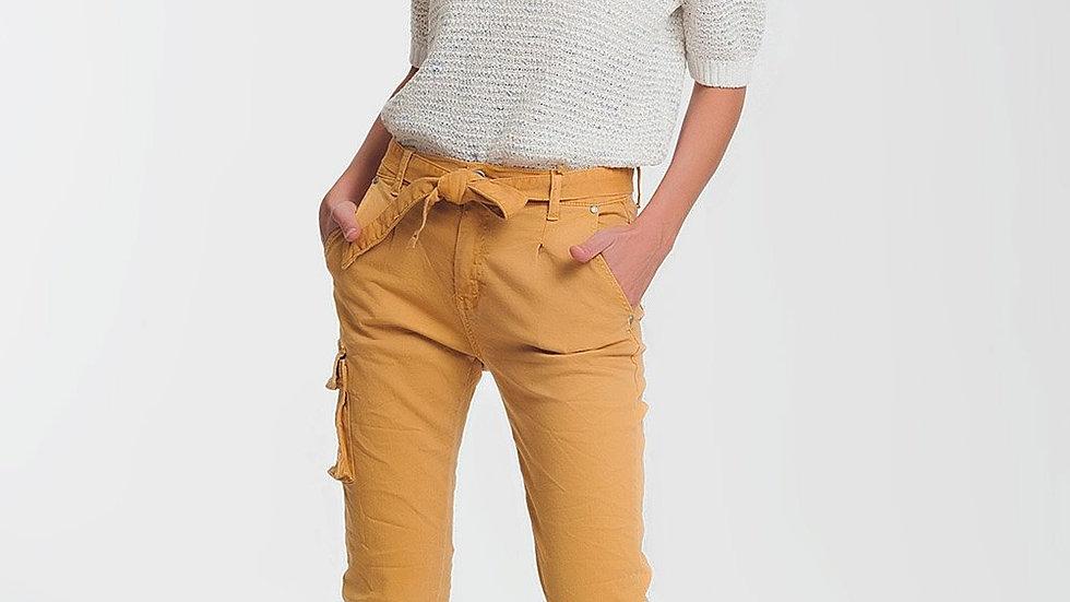 Straight Cut Pants in Mustard