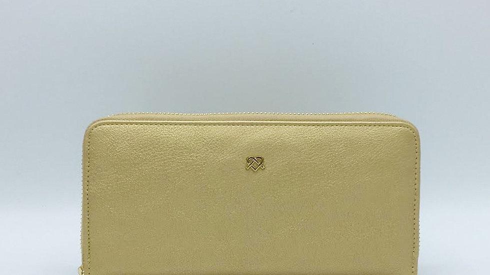 Uptown - Gold Zipper Wallet