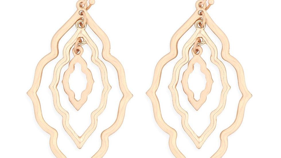 Moroccan Grain Link Two Tone Earrings