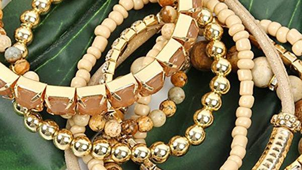 Plus Size Stackable Beads Bracelet Set